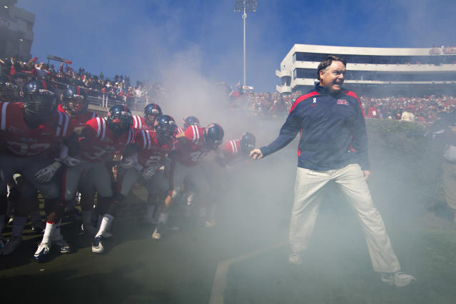 Nutt was 24-26 in four years at Ole Miss. (Getty)