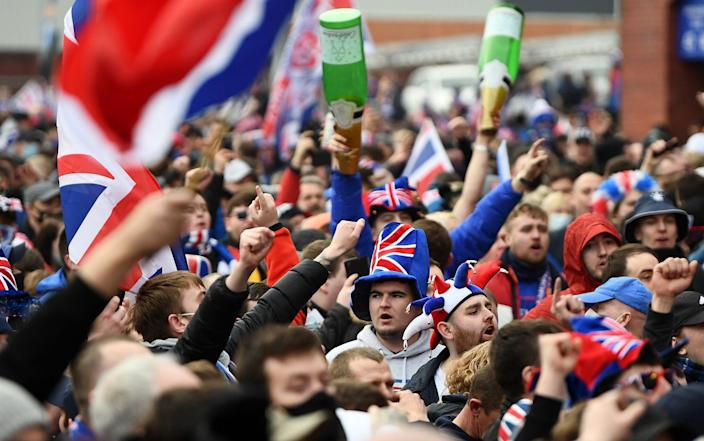 Rangers fans outside Ibrox - Jeff J Mitchell/Getty Images Europe