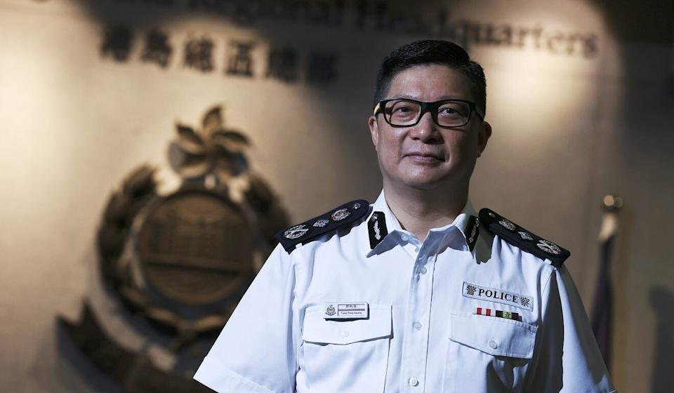Commissioner of Police Chris Tang speaks to the Post at police headquarters in Wan Chai on Wednesday. Photo: May Tse