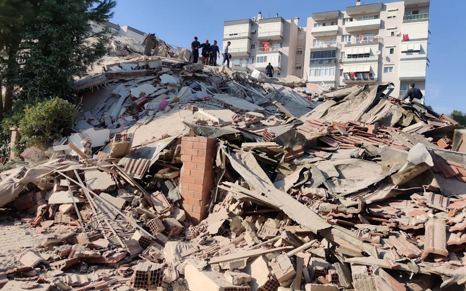 Buildings in Izmir, Turkey, were leveled by the earthquake - Anadolu Agency /Anadolu