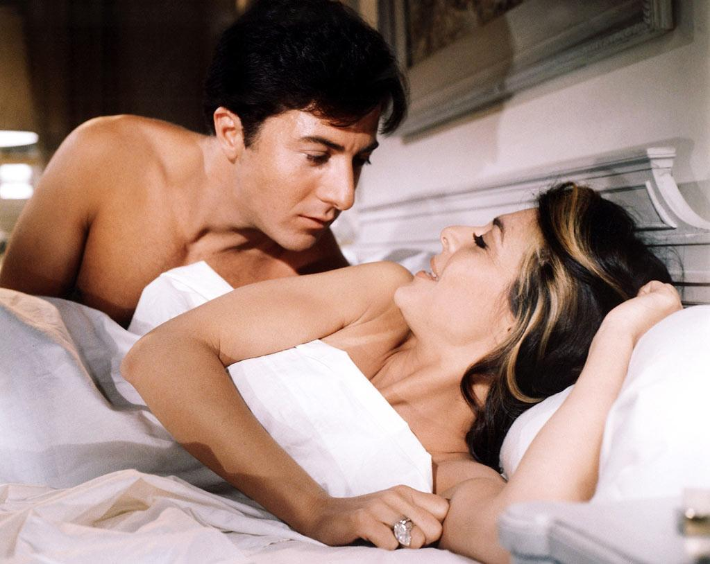 """Dustin Hoffman (age 30) and Anne Bancroft (age36) in """"The Graduate"""" - 1967"""