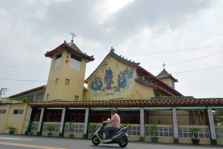 About six percent of Taiwan's 23.57 million population are Christian, with 300,000 of those Catholic