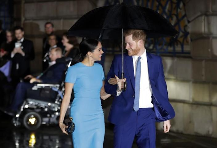 """The lawsuit brought by Prince Harry and Meghan, the Duke and Duchess of Sussex, seen above in London, says that """"certain paparazzi ... have crossed a red line for any parent."""" <span class=""""copyright"""">(Associated Press)</span>"""