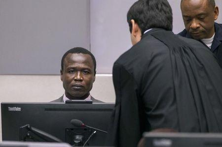 Dominic Ongwen, a former senior rebel commander from the Lord's Resistance Army in Uganda, sits in the courtroom of the International Criminal Court (ICC) during the confirmation of charges in The Hague, the Netherlands January 21, 2016. REUTERS/Michael Kooren