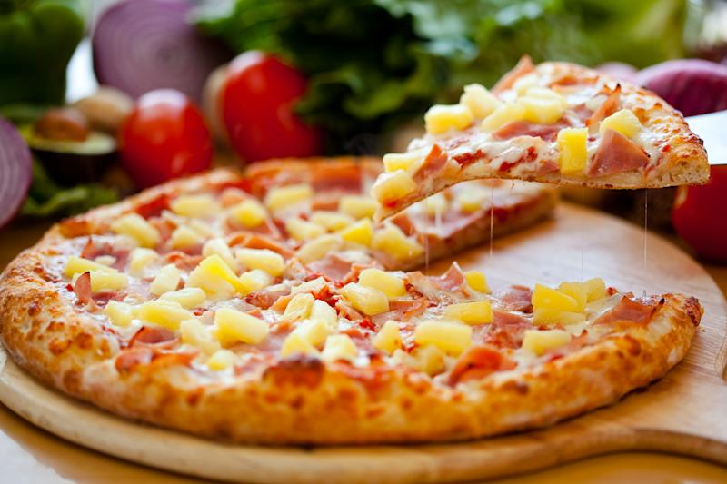 Divisive: Pineapple has divided the country as a pizza topping in a new poll: Shutterstock