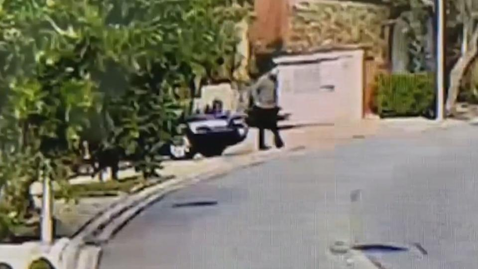 Carlos Lex Ribeiro de Souza appears in CCTV video in front of a house. Source: Newsflash/Australscope