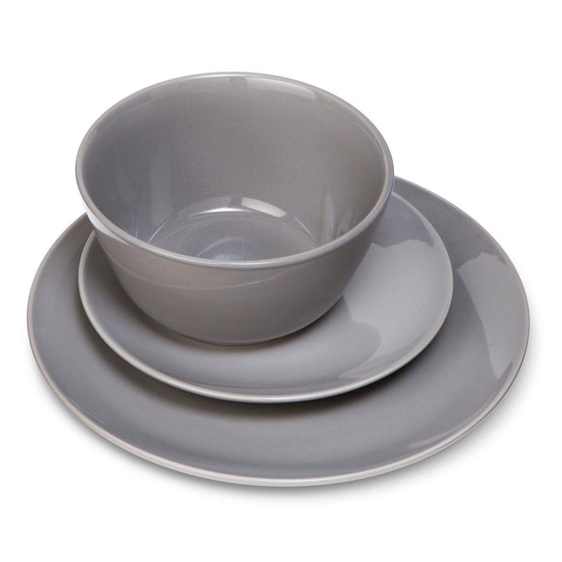 "Get this 12-piece set <a href=""https://www.target.com/p/coupe-12pc-dinnerware-set-gray-room-essentials-153/-/A-17372658"" target=""_blank"">here</a> for $20."