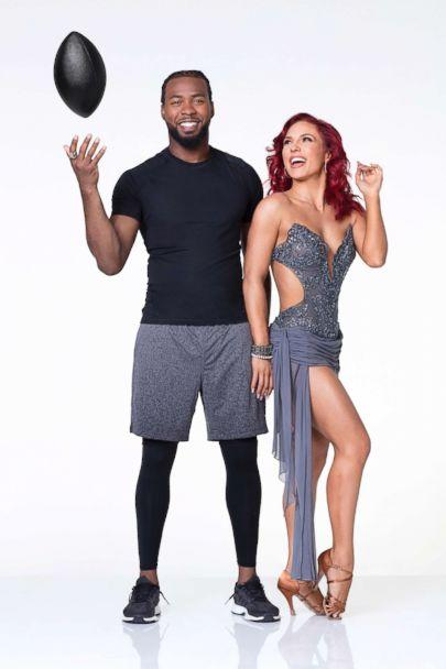 PHOTO: NFL player Josh Norman, of the Washington Redskins, is dancing with pro Sharna Burgess. (Craig Sjodin/ABC)
