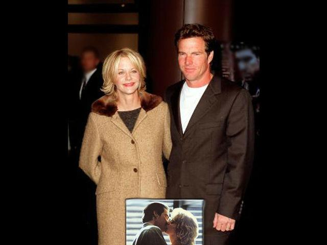 <b>Meg Ryan-Dennis Quaid<br> </b>The gorgeous Meg Ryan exchanged vows with her co-star and beau Dennis Quaid in 1991. Although their marriage might have lasted for only a decade, it was considered to be the 'Wedding of the Decade'. The couple also has a son together.