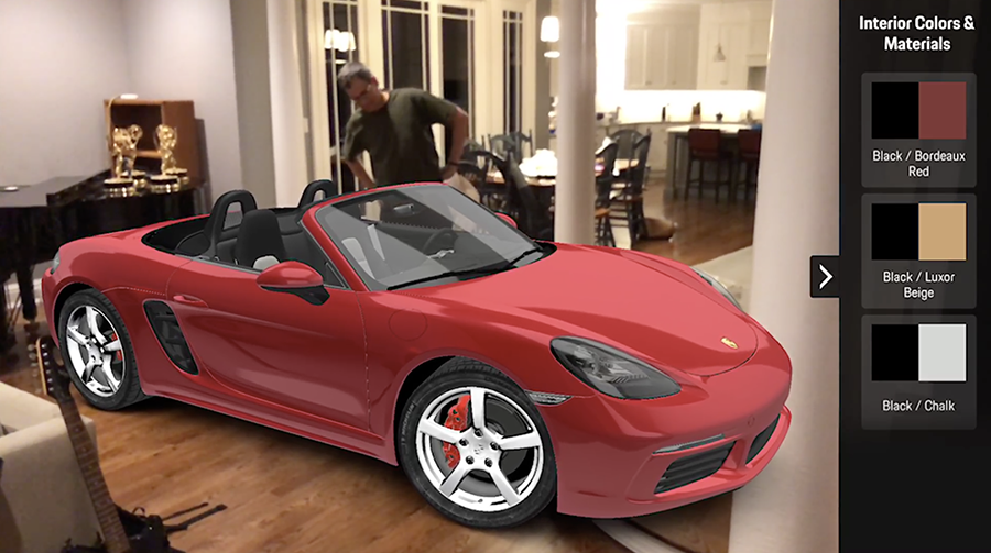Now you can see just what a $90,000 Porsche would look like in your home!