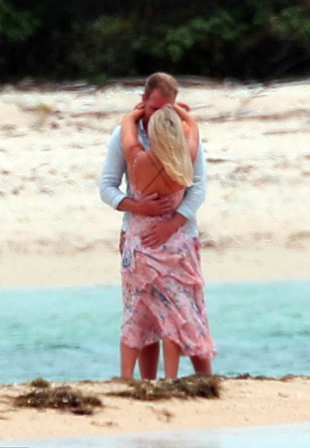 Bachelor in Paradise couple Keira Maguire and Jarrod Woodgate spotted kissing on a beach last year while filming the reality spin-off. Source: Diimex