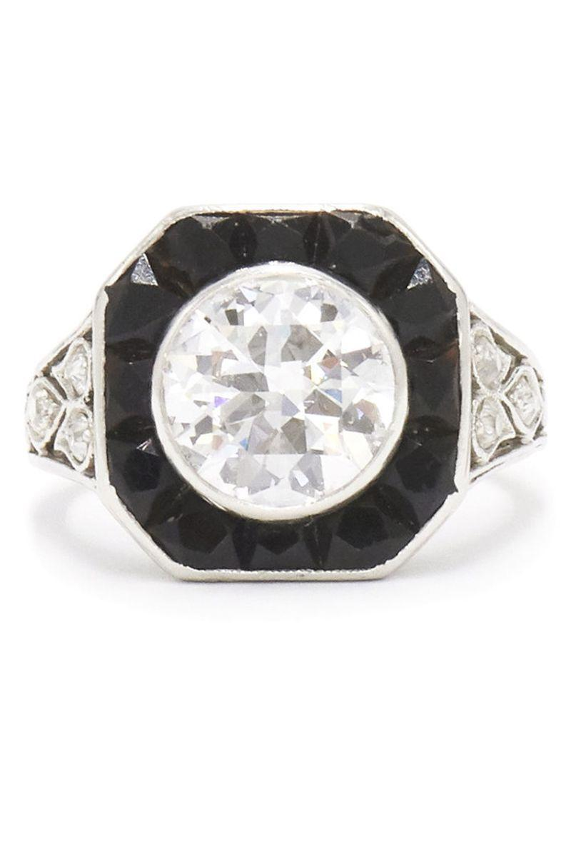 "<p><strong><em>Fred Leighton </em></strong><em>Art Deco Diamond and Onyx Ring, circa the 1920s $27,000, <a href=""http://fredleighton.com/"" rel=""nofollow noopener"" target=""_blank"" data-ylk=""slk:fredleighton.com"" class=""link rapid-noclick-resp"">fredleighton.com</a></em></p><p><a class=""link rapid-noclick-resp"" href=""http://fredleighton.com/"" rel=""nofollow noopener"" target=""_blank"" data-ylk=""slk:SHOP"">SHOP</a></p>"