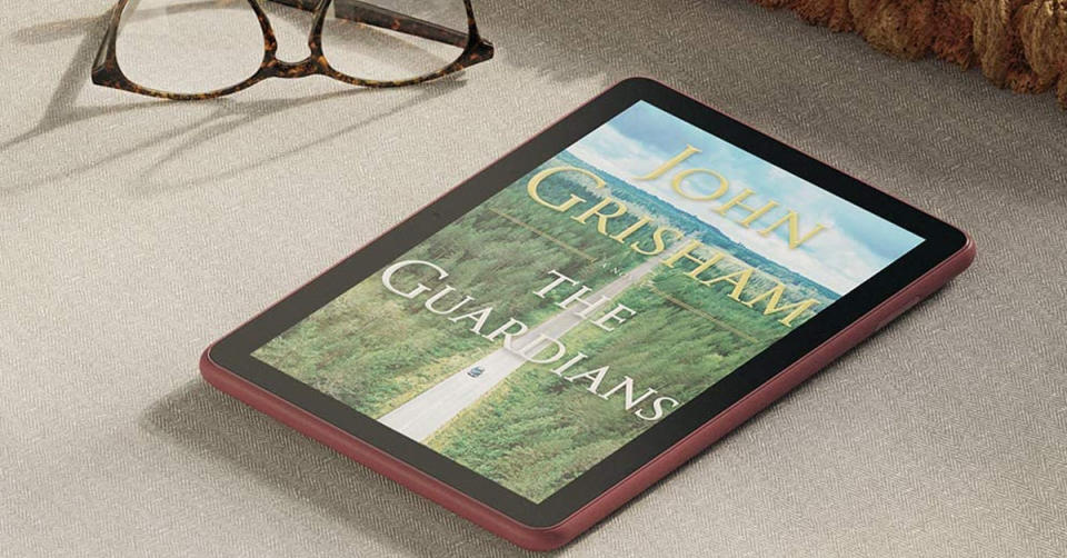 Read ebooks on a crystal-clear 8-inch screen. (Photo: Amazon)