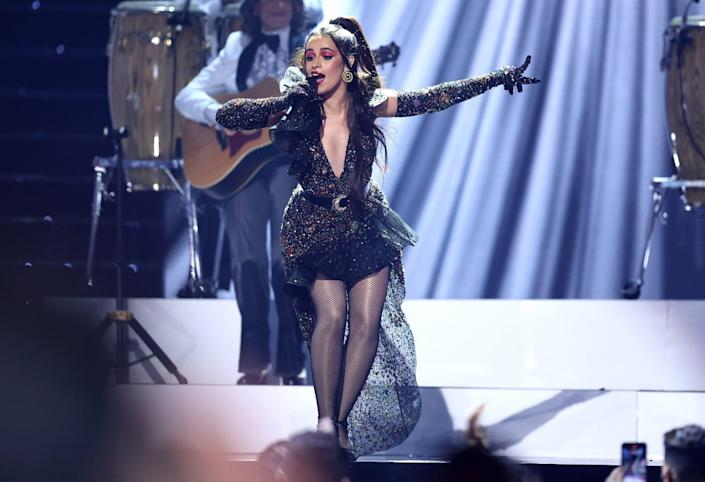 <p>Camila Cabello goes glam on Sept. 23 for the 2021 Billboard Latin Music Awards in Coral Gables, Florida.</p>