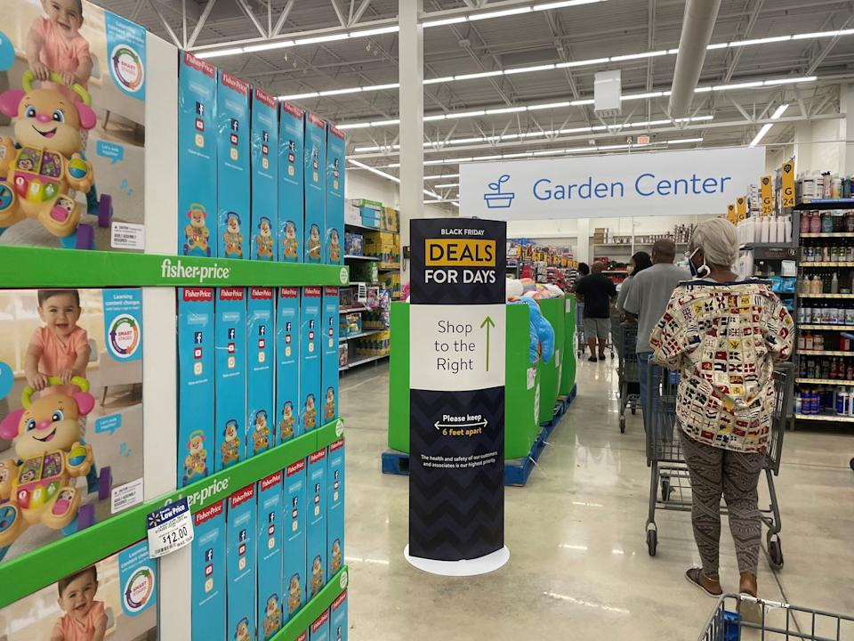 Walmart stores open at 5 a.m. local time on Black Friday.
