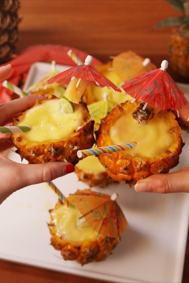 """<p>Bring your tastebuds to the tropics!</p><p>Get the recipe from <a href=""""https://www.delish.com/cooking/recipe-ideas/recipes/a53092/frozen-pineapple-margaritas-recipe/"""" rel=""""nofollow noopener"""" target=""""_blank"""" data-ylk=""""slk:Delish"""" class=""""link rapid-noclick-resp"""">Delish</a>.</p>"""