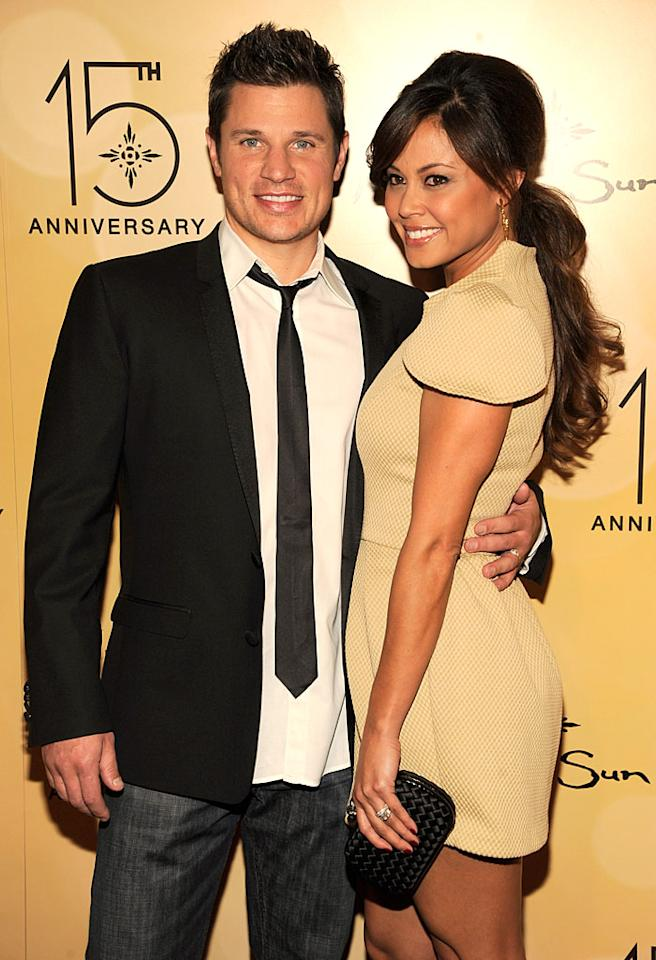 UNCASVILLE, CT - OCTOBER 22:  Nick Lachey and Vanessa Minnillo attend the Mohegan Sun 15th anniversary on October 22, 2011 in Uncasville, Connecticut.  (Photo by Kevin Mazur/WireImage)