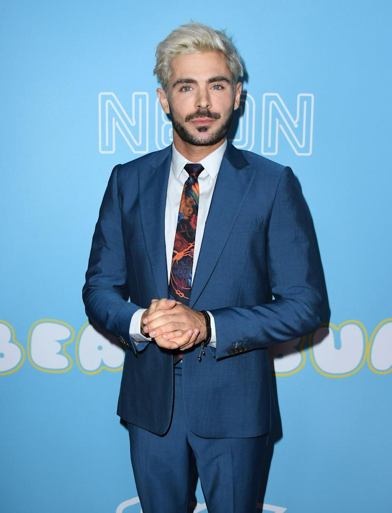 HOLLYWOOD, CALIFORNIA - MARCH 28: Zac Efron attends Los Angeles Premiere Of Neon And Vice Studio's