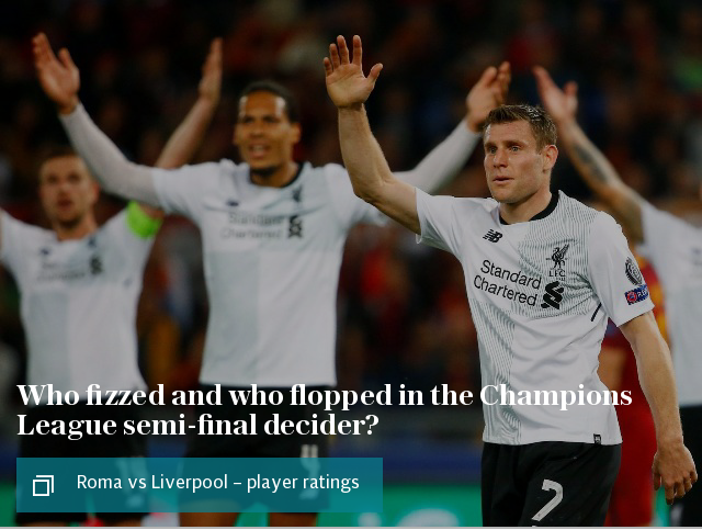 Who fizzed and who flopped in the Champions League semi-final decider?
