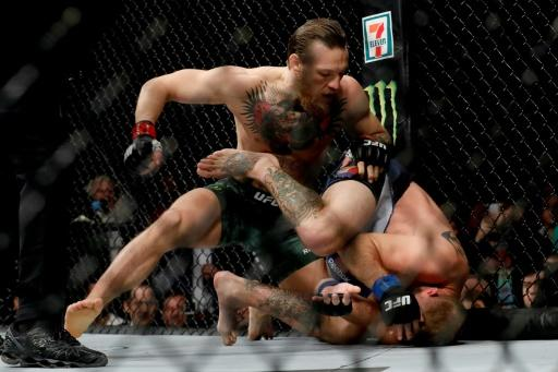 Ireland's Conor McGregor stopped American Donald Cerrone by TKO in 40 seconds in their UFC welterweight bout in Las Vegas