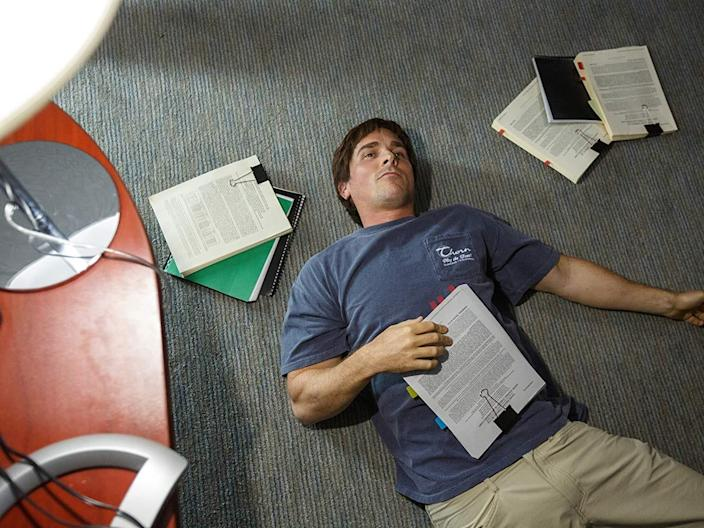 Christian Bale the big short work busy stressed