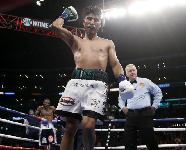 Boxer Mikey Garcia has made it loud and clear he's seeking a welterweight fight with Errol Spence Jr. (AP)