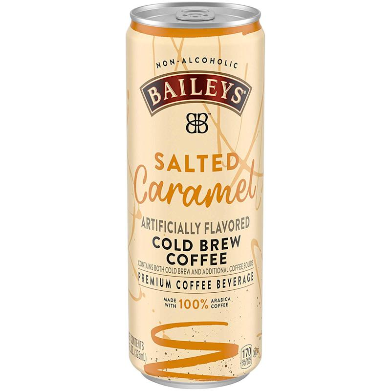 Can of Bailey's Salted Caramel Cold Brew on white background