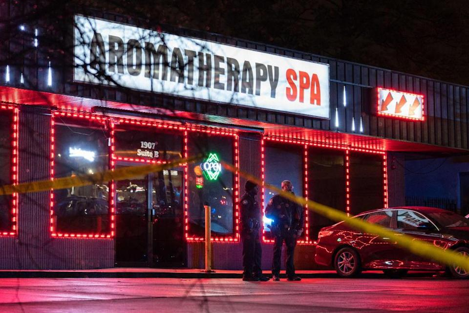 The Aromatherapy Spa in Atlanta on March 16, 2021. / Credit: ELIJAH NOUVELAGE/AFP via Getty