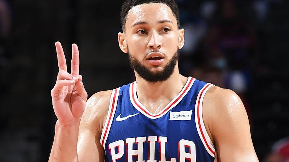 Ben Simmons bounced back from a poor free throw shooting night in Philadelphia's game four loss to close out the Washington Wizards with a triple-double. (Photo by David Dow/NBAE via Getty Images)