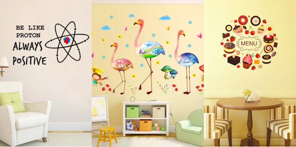 Shop: 12 ideas to decorate plain boring walls with stickers