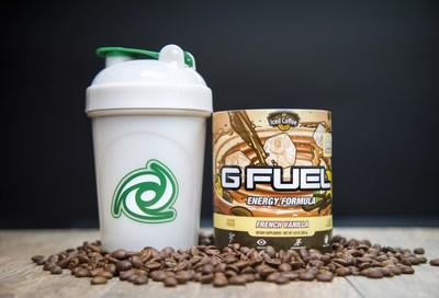 """G FUEL French Vanilla will be available for sale in 40-serving tubs and limited-edition collectors boxes, which include one French Vanilla tub and one 16 oz. """"The Coffee Cup"""" shaker cup, at gfuel.com on January 22nd."""