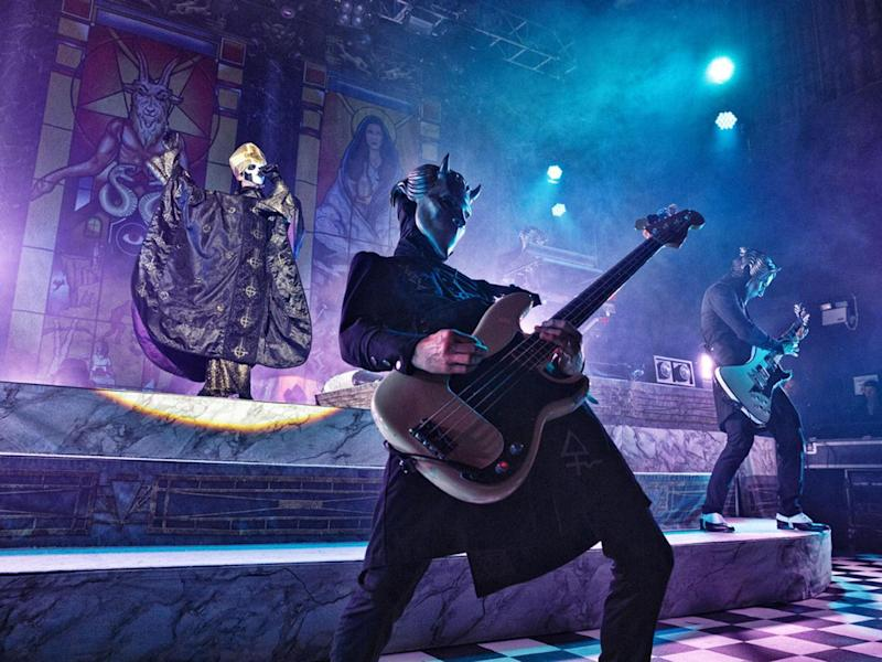 The identity of the six members of Ghost remains a mystery, although rumours circulate the internet (Paul Harries)