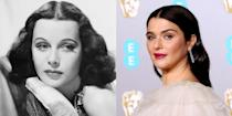 <p>It isn't just Rachel Weisz's dark brunette hair, oval face, or full pout that reminds us of Hedy Lamarr. The actresses have almost identical prominent brow arches, which makes them almost indistinguishable. </p>