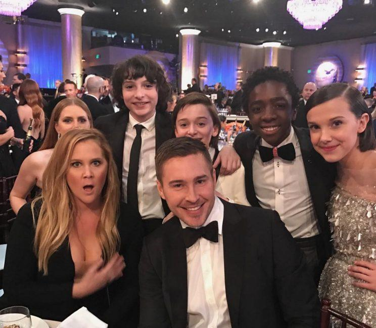 <p>And Amy Schumer also posed up a storm with the entire young cast.</p>
