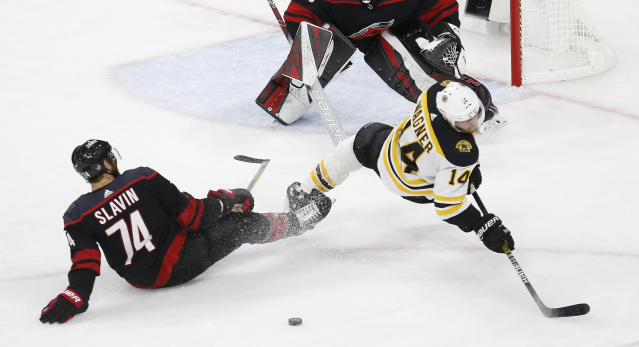 Chris Wagner is getting x-rays on his right arm after blocking a shot during Game 3, and it doesn't look encouraging for the Bruins forward.