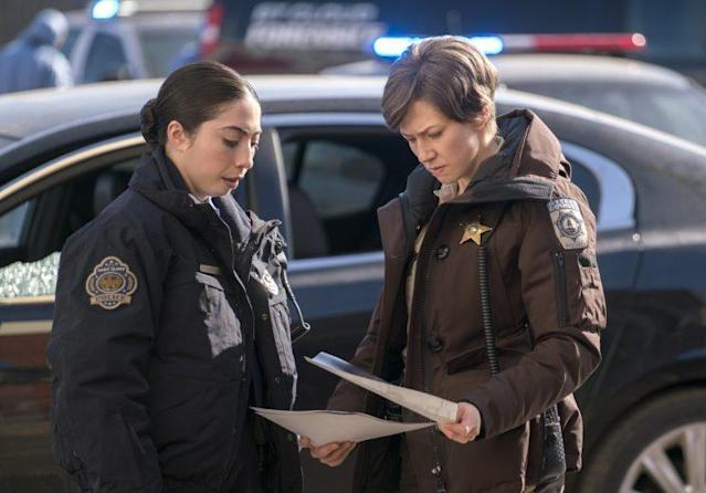Olivia Sandoval as Winnie and Carrie Coon as Gloria Burgle in FX's 'Fargo' (Credit: Chris Large/FX)