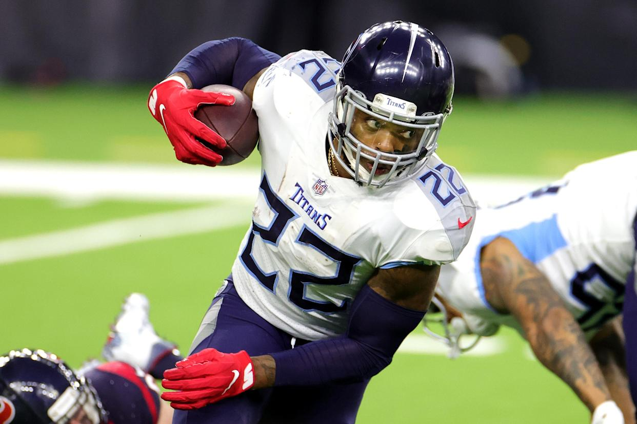 Derrick Henry trying to repeat his 2,000-yard season is one of the key stories to watch during the NFL season. (Photo by Carmen Mandato/Getty Images)