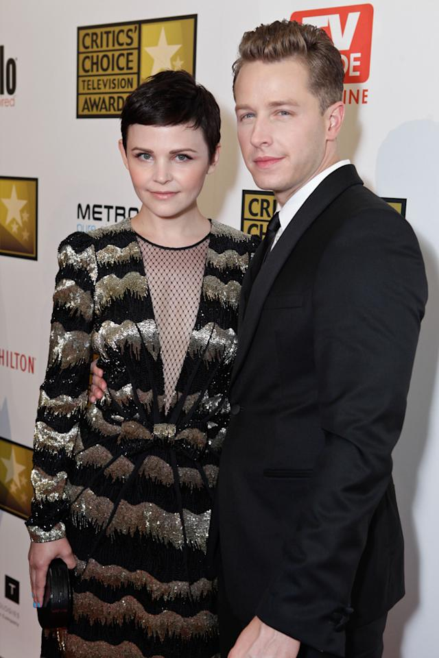 Ginnifer Goodwin and Josh Dallas attend the 2012 Critics' Choice Television Awards at The Beverly Hilton Hotel on June 18, 2012 in Beverly Hills, California.