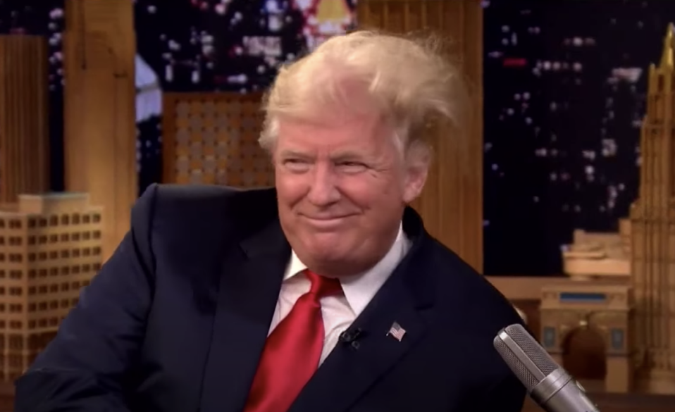 US President Donald Trump during an appearance on The Tonight Show with Jimmy Fallon.