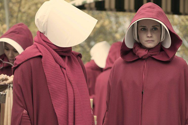 Alexis Bledel as Ofglen in Hulu's The Handmaid's Tale.
