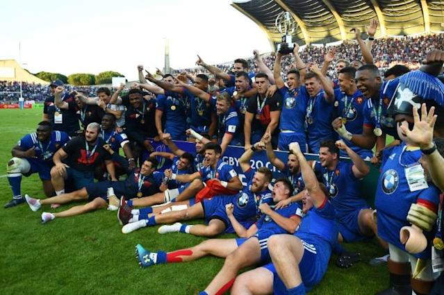 France won th 2018 under-20s World Rugby title at Beziers' Stade Raoul-Barrière (AFP Photo/SYLVAIN THOMAS)