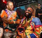 <p>Busta Rhymes and host Rick Ross perform at Vendome in Miami Beach on July 26.</p>