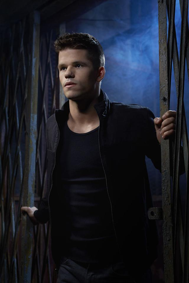 "Aiden (Max Carver) in MTV's ""Teen Wolf"" Season 3."