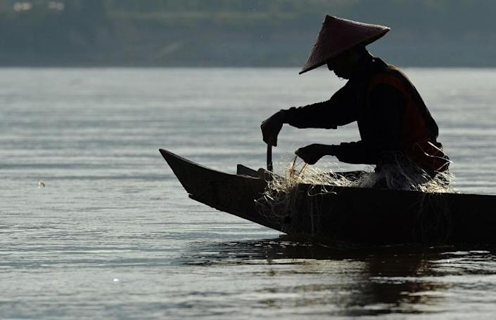 Severe drought in Thailand has put China's Mekong vision under rare global scrutiny (AFP Photo/CHRISTOPHE ARCHAMBAULT)