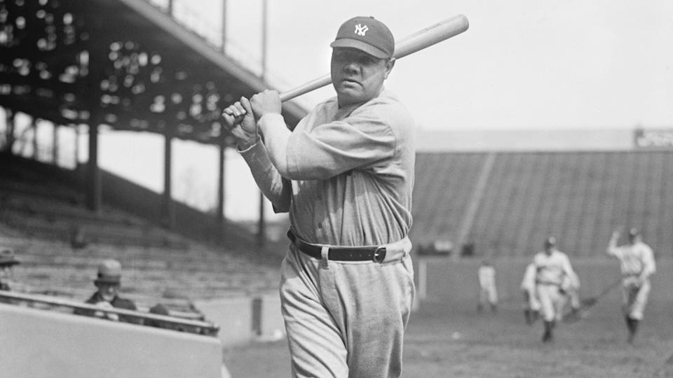 Mandatory Credit: Photo by Glasshouse Images/Shutterstock (8608223a)Babe Ruth, Major League Baseball Player, New York Yankees, Portrait, National Photo Company, 1924VARIOUS.