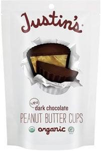 <p><span>Justin's Dark Chocolate Mini Peanut Butter Cups</span> ($5) are certified organic, gluten-free, and individually wrapped, making them perfect for even the tiniest trick-or-treaters.</p>