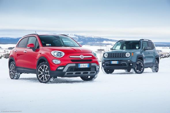 Fiat and Jeep in the snow