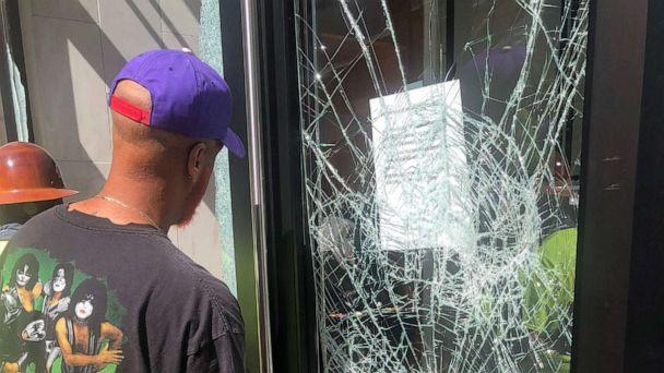 PHOTO: The black-owned Attom Shop in Atlanta was looted during protests on May, 29, 2020. (Courtesy Kris Shelby)