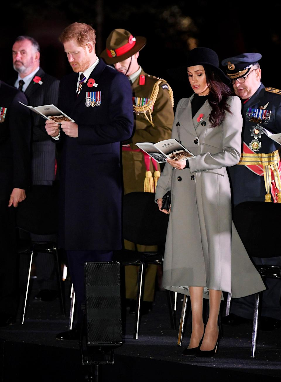 <p>Meghan proved she can take her hand to any royal engagement her new life throws at her, even the sombre ones.<br>Stepping out for Anzac day memorial services, the now-Duchess gave her fans as first look at how she tackles hats, wearing a wide-brimmed fedora to the services.<br>The fashion moment gave a taste of what was to come: hats, hats, hats.<br>[Photo: Getty] </p>