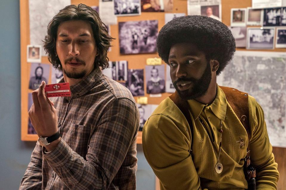 "<p>""Even if he doesn't know it, Adam and I are friends. I freakin' love Adam, I call him all the time, I stalk him. So I believe that chemistry that you're talking about [in <em>BlacKkKlansman</em>] felt pretty honest, it felt real. But Adam's such an intense and a great actor, you have to — if you're not honest when you're working with him, you will get exposed, quick. Sometimes, some takes, when he's looking at me, and I'm like 'Alright, I was lying on the tape, let's do it again, I can tell by the way you're looking at me Adam.' ""</p> <p>— <em>BlacKkKlansman</em> costar John David Washington, to <a href=""https://www.youtube.com/watch?v=GFJ_j5lGiAg"" rel=""nofollow noopener"" target=""_blank"" data-ylk=""slk:On Demand Entertainment"" class=""link rapid-noclick-resp"">On Demand Entertainment</a></p>"
